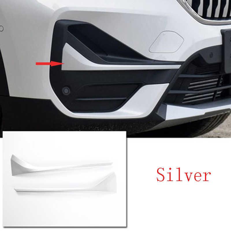 4 ألوان سيارة التصميم ABS كروم الخارجي الجبهة الضباب شرائط إضاءة الكسوة ملصق اكسسوارات لسيارات BMW X1 F48 2020 HOT NEW