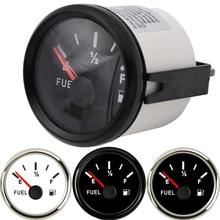 УФ-фильтр 52 мм с Указатель уровня топлива морской катер индикатор уровня в резервуаре 12/24V черный 0-190 240-33 Ом водонепроницаемая розетка подключения Подсветка