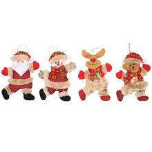 2020 Christmas Decorations Xmas Gifts Santa Snowman Tree Toys Doll Hang Decoration Pendant Party Supplies