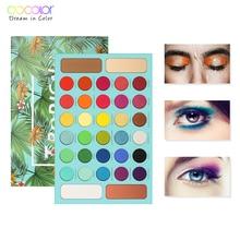 Paleta de sombra docolor de 34 pigmentos, maquiagem à prova d água profissional, paleta nude de maquiagem para sombra e olhos com glitter brilhanteSombra de olho