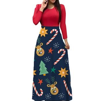 Vestido De primavera-otoño De flores, manga larga