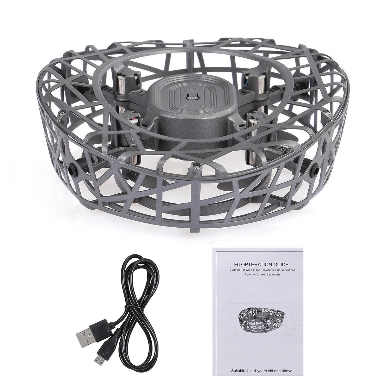 GOOLRC F6 Скут ручные Дроны для детей или взрослых Hands Free мини-Дрон инфракрасный индукционный вращающийся на 360 ° светодиодный фонарь