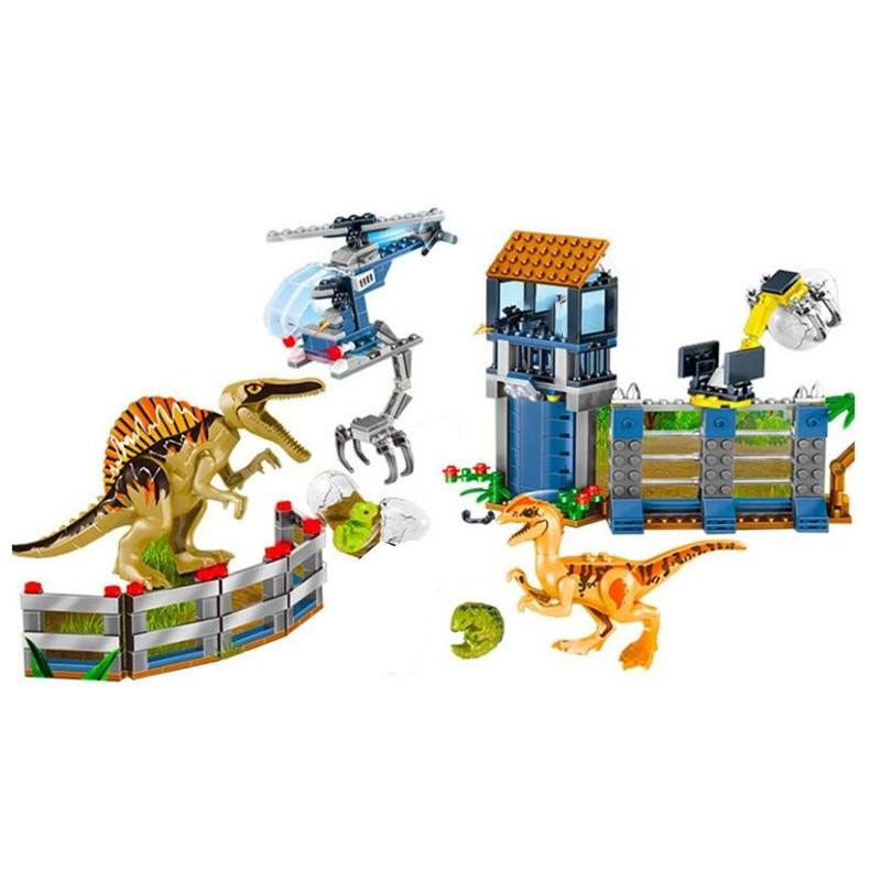 Новый мир Юрского Периода Динозавры динозавры спинозавр штурмовая Военная фигура строительный блок Legoinglys с 73934 75935 75937 75938-in Блоки from Игрушки и хобби