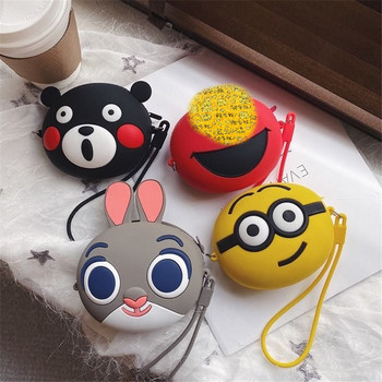Women Girls Wallet Kawaii Cartoon Coin Purses Silicone Cosmetic Storage Box Coin Bag Purse Kids Gift Earphone SD TF Cards Bag new fashion women sweet cute ladies girls kids coin purses silicone wallet cartoon clutch purse chain mini bag small coin bags