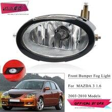 ZUK Auto Anti-Fog Light Foglamp With Bulb Trim Cover For Mazda 3 Axela M3 2003-2010 1.6L Front Bumper Fog Light Fog Lamp