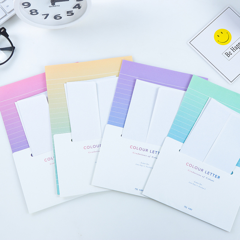 1PCS  Kawaii Writing Paper Letter Set For Kids Gift School Office Supplies Student Envelope Stationery Planner Diary