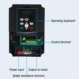 Image 4 - VFD 5.5KW nuevo inversor motor de eje de CNC control de velocidad 220V 5.5KW 20A 220v 1P entrada 3P fuera inversor de frecuencia para motor