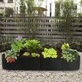 Тканевая поднятая садовая кровать, прямоугольный дышащий контейнер для посадки, мешок для выращивания растений, фетровый мешок для посадки...