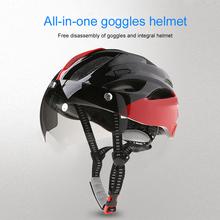 Nowy rower kask kask ochronny wiatroszczelne soczewki integralnie formowany kask oddychający kask kask rowerowy czapka sportowa tanie tanio 300g Całą twarz Unisex ABS + PC