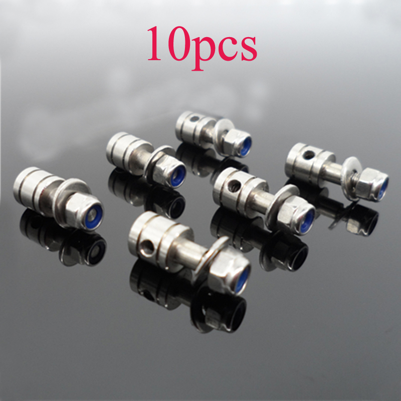 10PCS DIY Model Boat Aperture 2mm Stainless <font><b>Steel</b></font> Servo Linkage Stopper Pushrod Suction Rudder Connector Tie <font><b>Rod</b></font> Adjuster L15mm image