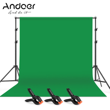 Andoer 2 * 3m Photography Studio Kit with Backdrop Background 2 * 3m Backdrop Support Stand Bracket Backdrop Clamp Backdrop