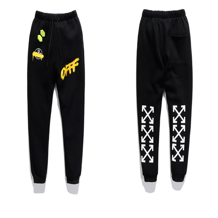 Europe And America Popular Brand Fall And Winter Clothes Ow Bangkok Traditional Chinese Ink Graffiti Men And Women Couples Fashi
