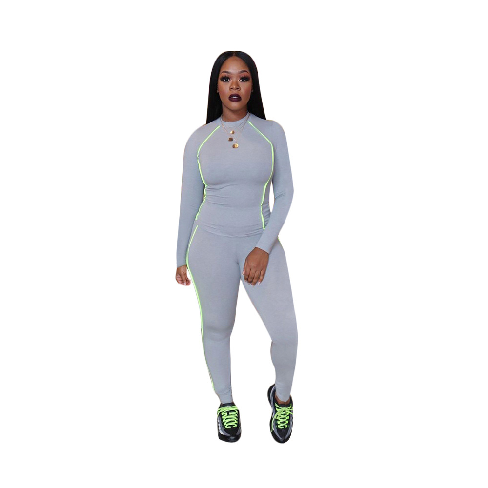 Trim Women's Tracksuit Casual Long Sleeve Pullover Hoodie Top With Pencil Pant Two Piece Set Club Outfit Bodycon Women's Suit