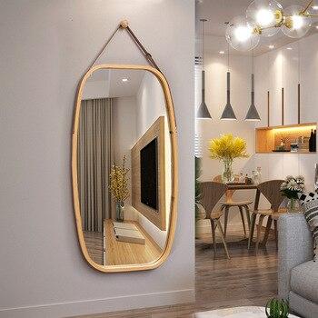 Зеркало для ванной комнаты, настенное туалетное зеркало, Северное декоративное круглое зеркало, настенное полноразмерное зеркало, Wy113024