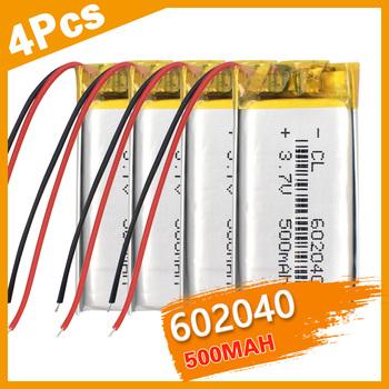 1 2 4 szt 100 nowy 602040 akumulator litowo-jonowy 3 7V li-po 500mah wielokrotnie ładowana komórka MID GPS PSP głośnik Bluetooth ogniwa litowo-polimerowe tanie i dobre opinie YCDC NONE Mp3 mp4 CN (pochodzenie) Standardowa bateria 602040 Lithium Rechargeable Battery JST-2P About 40x20x6mm 1 57x0 79x0 24