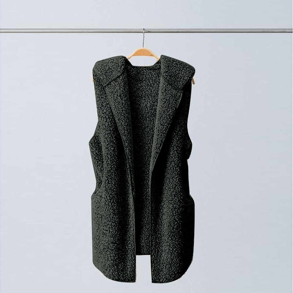 Autumn Winter Womens Vest Winter Warm Hoodie Outwear Casual Slim Fit Faux Fur Coat Jacket Jacket Outwear Outwear #104