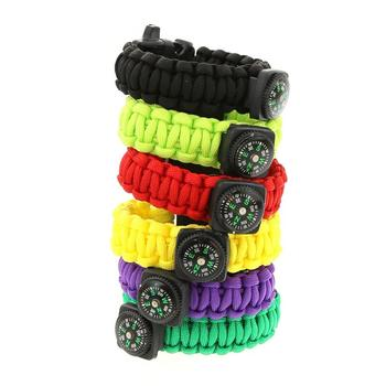 Outdoor Bracelets Multi-function Emergency Rope With Compass Camping Hiking Emergency Tactical Survival Braided Rope 1
