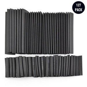 127 sztuk czarny klej odporny na warunki atmosferyczne koszulki termokurczliwe Tube zestaw asortymentowy kabel samochodowy Sleeving asortyment zestaw do zaginania drutu LESHP