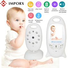 IMPORX 2 inch Wireless Video Baby Monitor Electronic Babysitter Radio Nanny Camera Night Vision Temperature Monitoring 8 Lullaby baby monitor 3 2 inch lcd display 2 4ghz wireless video babies monitor nanny security camera night vision temperature monitoring