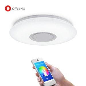 Image 2 - Moderne Led deckenleuchte RGB Dimmbare 25W 36W APP Fernbedienung Bluetooth Musik Licht Foyer Schlafzimmer Smart Decke licht