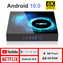 2020 Baru TV Box Android 10.0 Netflix YouTube HD 6K Android TV BOX Google Voice Assistant Lemado Smart TV kotak 9 Dukungan Spanyol(China)
