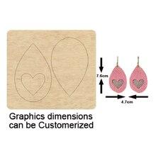 wooden heart love earring dies Scrapbook Die Cut DIY handmade New Dies Wooden cutting Template Cutting Mold Wood