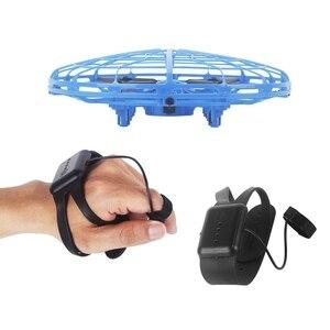 Image 3 - طائرة صغيرة بدون طيار UFO بدون طيار مع كاميرا إيماءة الجاذبية التعريفي طائرات بدون طيار كوادكوبتر المضادة للتصادم ماجيك اليد UFO الكرة الطائرات لعبة أطفال