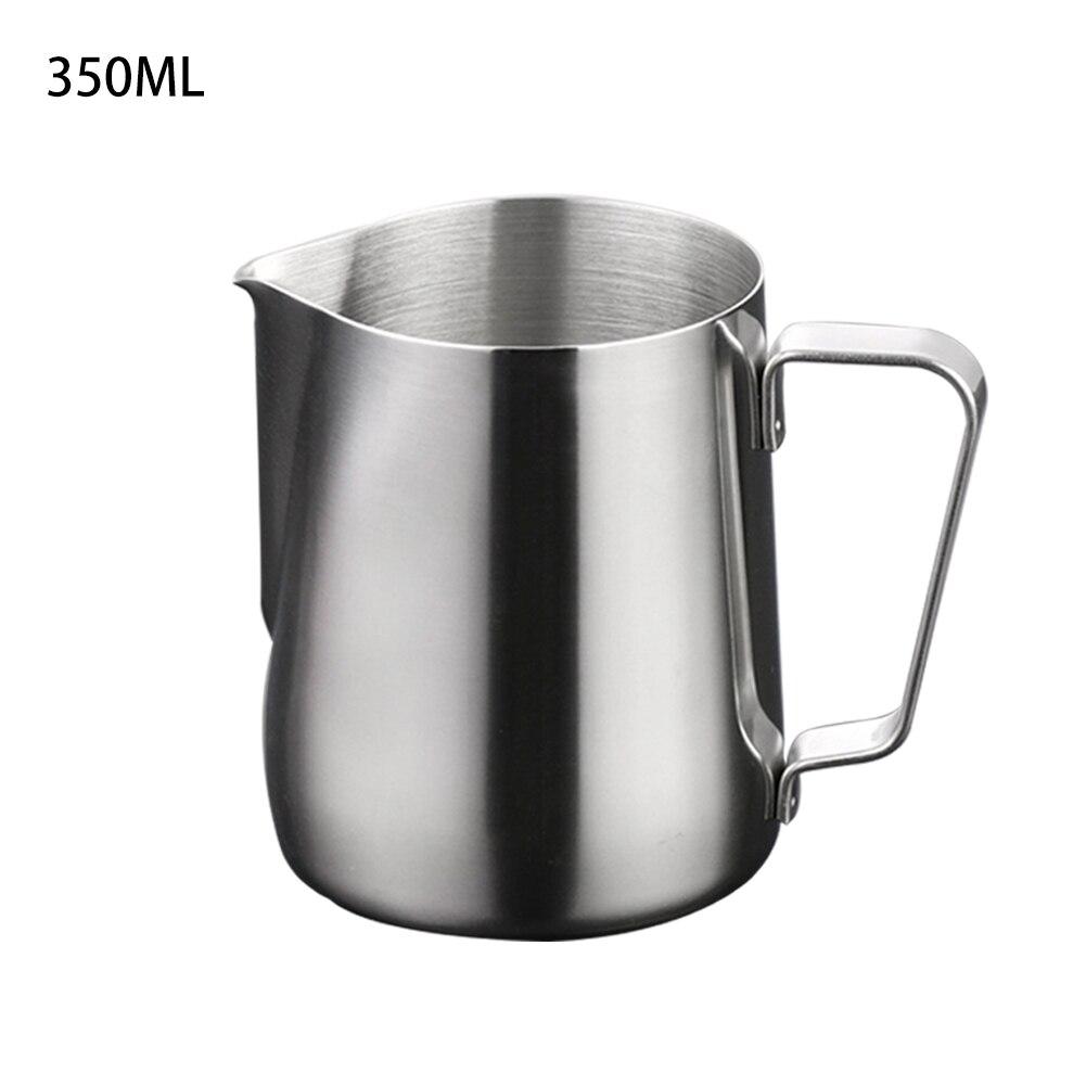 Paslanmaz çelik süt köpürtme sürahisi işaretleri 100ml/150ml/200ml/350ml/600ml kahve süt köpürtücü ve Latte Maker