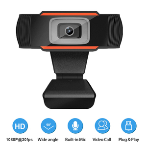 HD 1080P Webcam Computer PC WebCamera with Microphone Cameras for Online Studying Live Broadcast Video Calling Conference Work