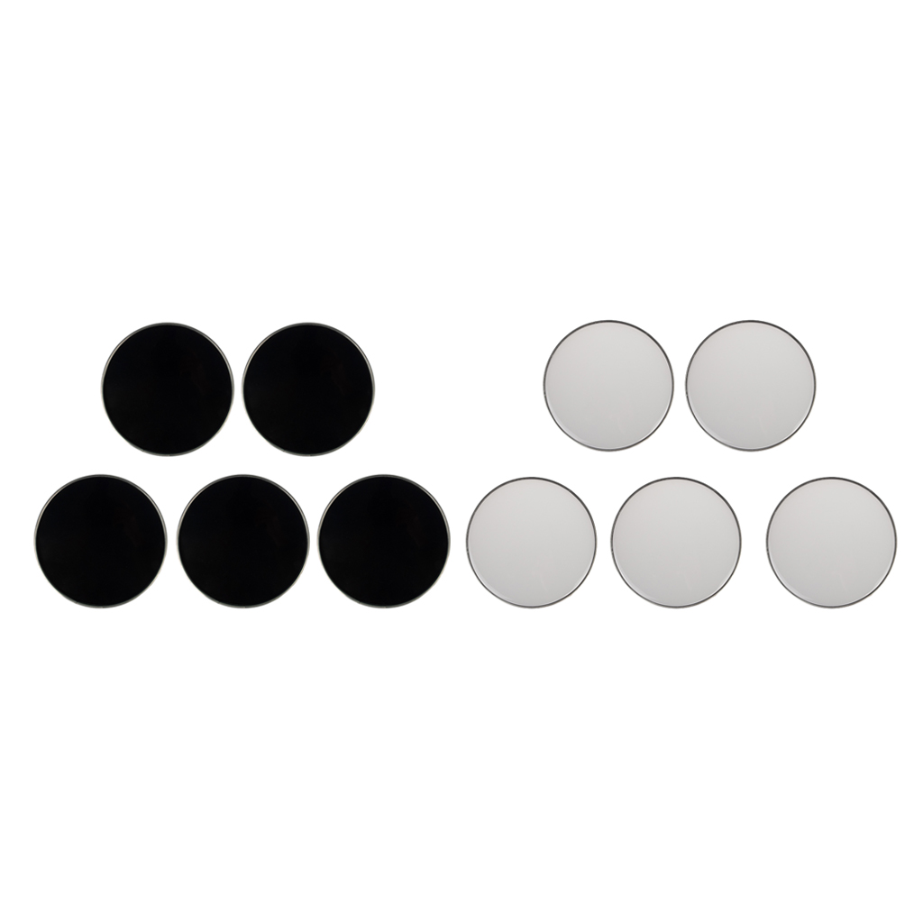 5 Pieces Banjo Head Skin For Banjo Ukulele String Instrument, White/Black