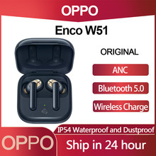 OPPO Enco W51 zestaw słuchawkowy Bluetooth TWS podwójne aktywna redukcja szumów podwójna skrzynia biegów ładowanie Wireless IP54 wodoodporne słuchawki