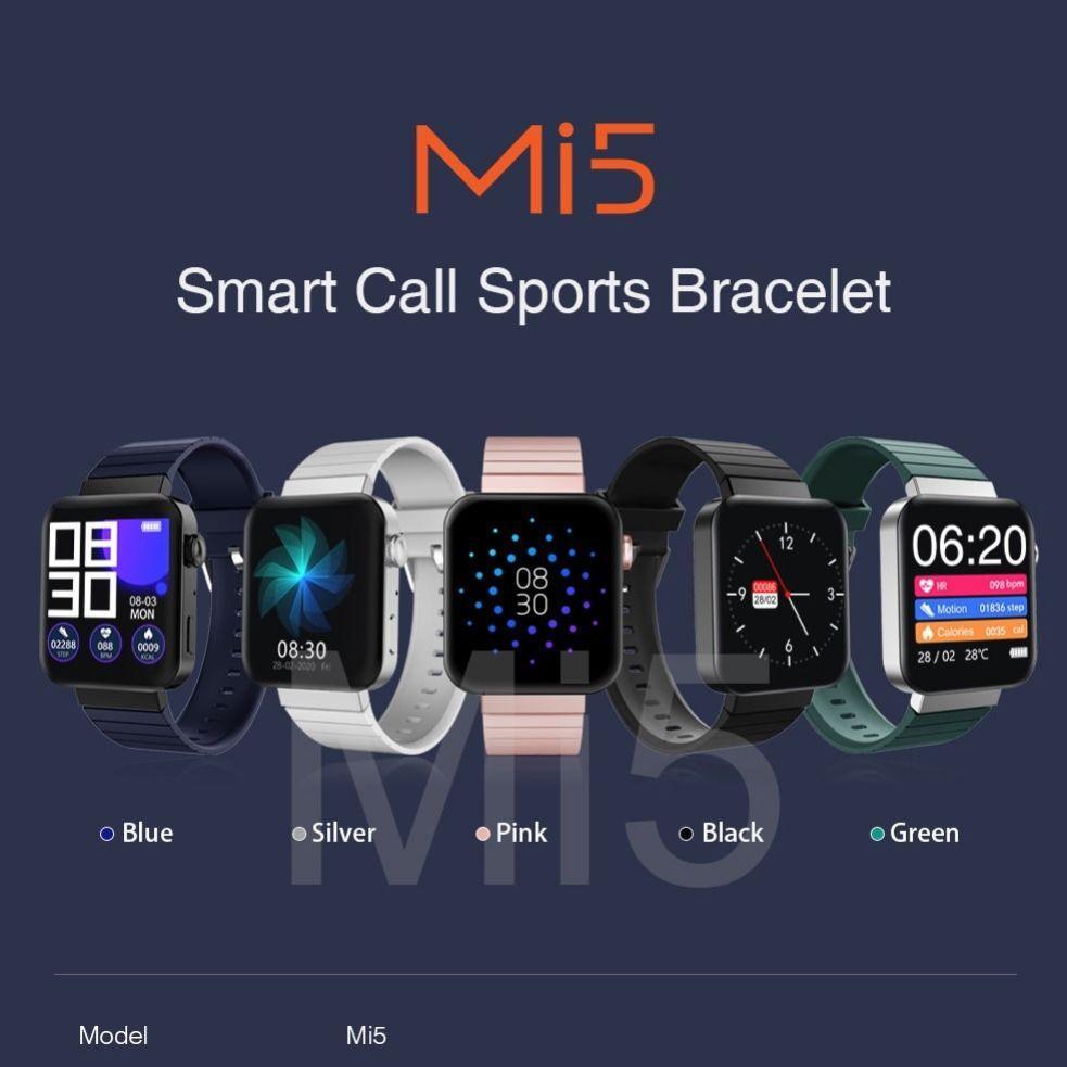Newest Mi5 Smart Watch Wristbands Fitness Tracker Health Heart Rate Blood Pressure Bluetooth Sport Bracelet Mi5 Smartwatch Pk M4