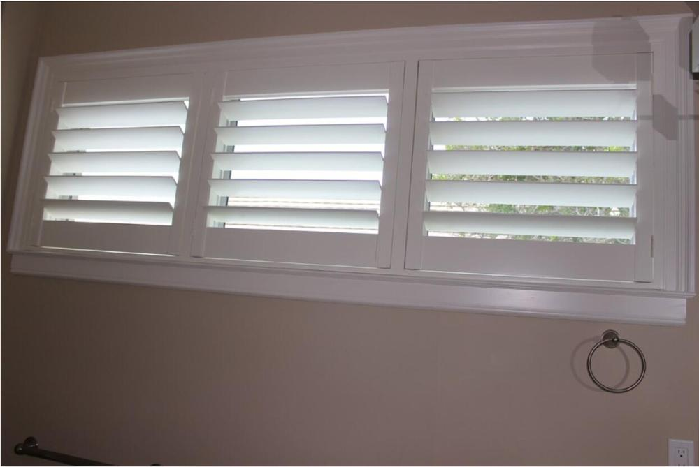 Custom Basswood Plantation Shutters Wooden Blinds Solid Wood Shutter Louvers PS281