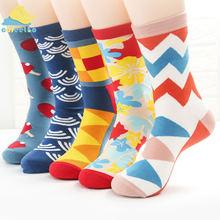 Cofeetbo креативные геометрические носки для мужчин и женщин