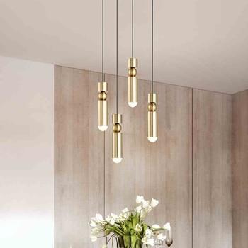Modern Metal Led Pendant Lights Kitchen Office Bar Restaurant Loft Design Hanglamp Industrial Pendant Lamp Copper Black Silver