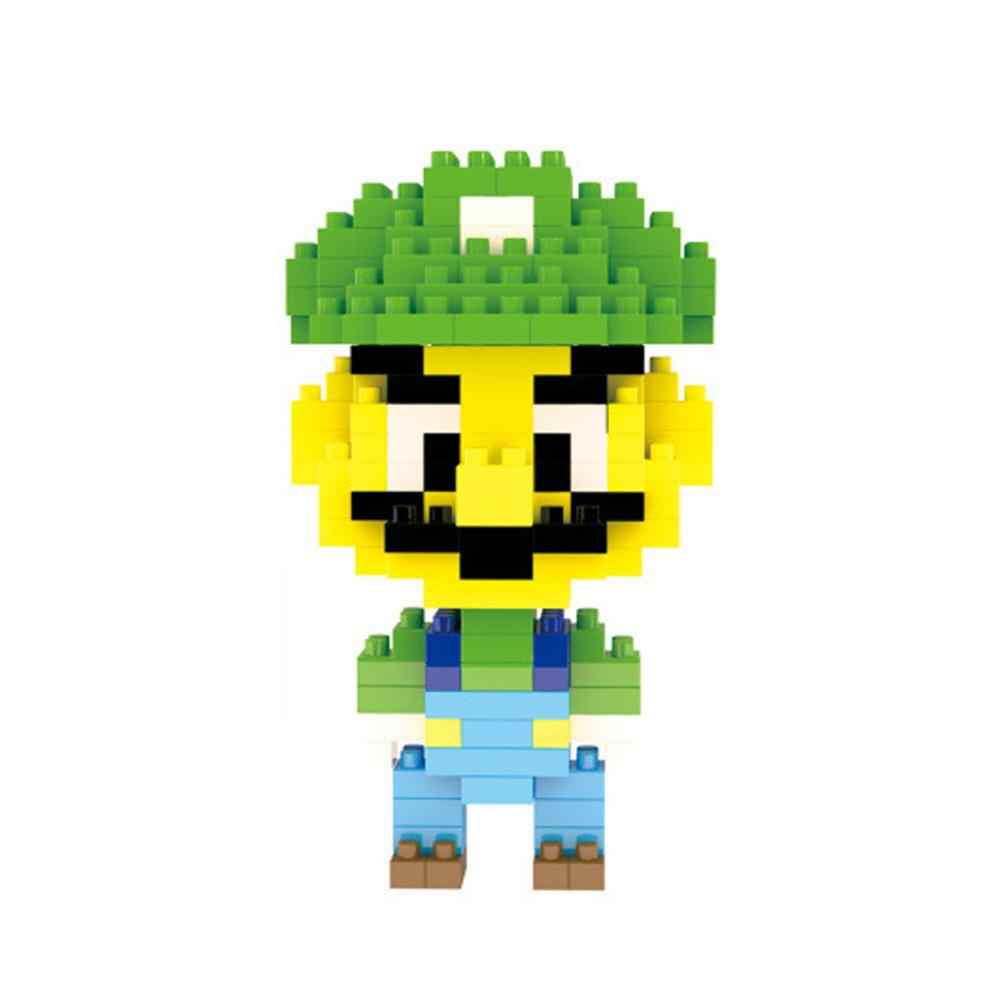 Hot Lepining classico creatori giappone Nintendos figure super marios bros luigi modello mini micro diamante giocattoli dei mattoni del blocchetto fo regalo