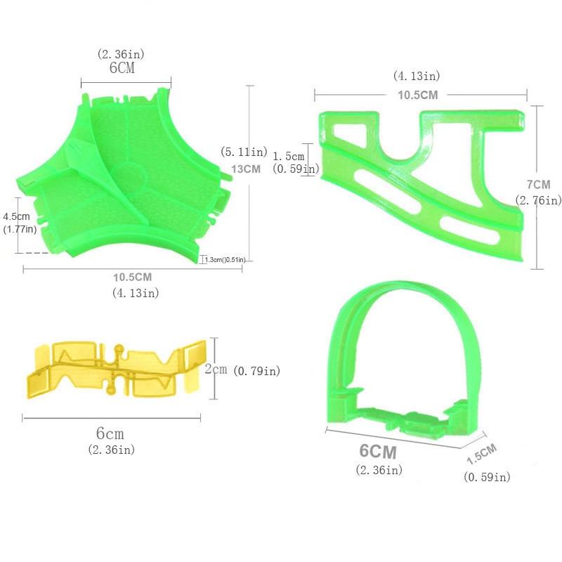 Волшебный гоночный трек DIY головоломка игрушка ролик мини трек-горки аксессуар электронная модель автомобиля рельсы детали для мальчиков И...