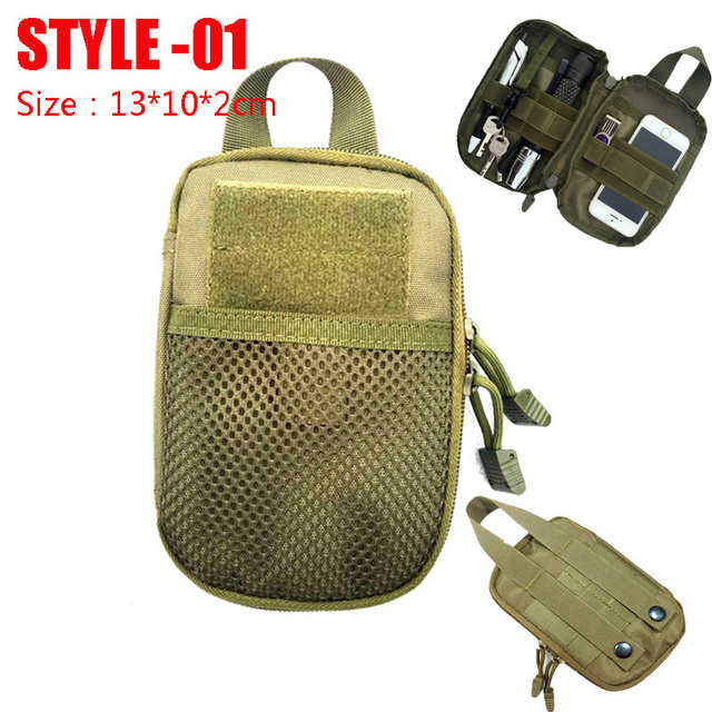 Hunting Survival First Aid Bag Outdoor SOS Pouch Army Tactical Waist Bag Medical Kit Bag Molle Belt Backpack EDC Emergency Pack 2