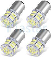 50x 1157 LED Bulbs, 54SMD 650 Lumens, BAY15D 7528 2357 LED Replacement Light Bulb for Brake Tail Running Parking Backup Light