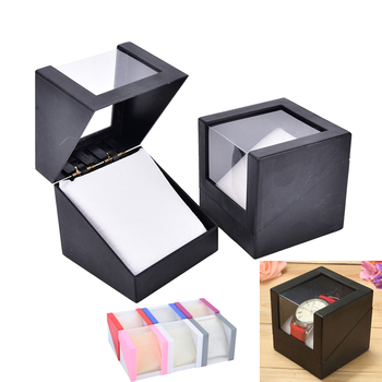 78*78mm Plastic Earring Display Storage Holder Jewelry Transparent Case Walentine's Day Anniversary Gift Wrist Watch Box - discount item  37% OFF Watches Accessories