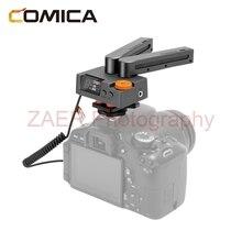 Comica traxshot profissional super microfone cardióide tudo em um microfone de vídeo transformável microfone de espingarda para câmera de telefone