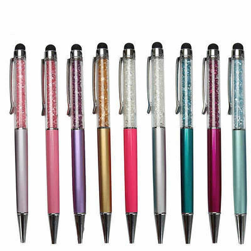 1 adet yüksek kaliteli kristal tükenmez kalem yaratıcı roman Stylus kalem kırtasiye muhtasar ofis okul kalem Ballpen