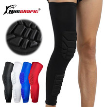 Long Basketball Knee Pads Running Leg Sleeve Calf Knee Brace Support Protector Ski/Snowboard Sport Kneepad Football Shin Guard(China)