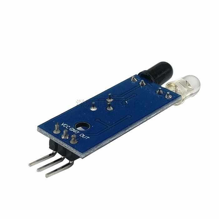 100 шт ИК инфракрасное препятствие избегания Сенсор модуль для Arduino салона автомобиля Робот 3-жильный фотоэлектрический Светоотражающие Новый
