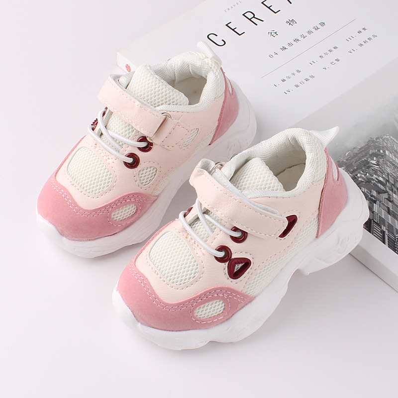 Fashion Girl Breathable Mesh Shoes Baby Kids Sneakers Trainers for Toddler Boys Sport Shoes Children Casual Shoes Spring Autumn