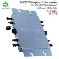 1200W Waterproof IP65 Solar Grid Tie Micro Inverter WVC1200 Microinverter Inversor For On Grid Solar Power System Home