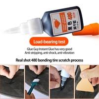 Repair Tire Glue Window Speaker Seal Tire Repair Glue Mighty Tire Repair Glue 480 Black Super Glue Car Rubber 1