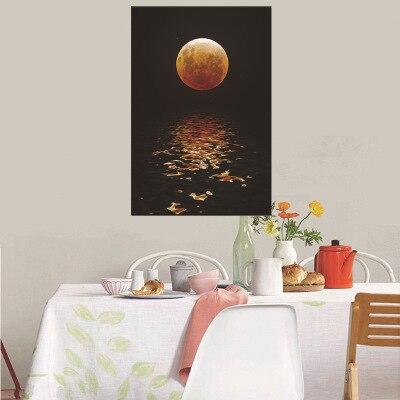 HD deniz yükselen ve ay koridor dekorasyon resimleri oturma odası için duvar resimleri sanat tuval boyama