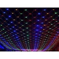 Garland transparent (led) mesh 160 LED 8020
