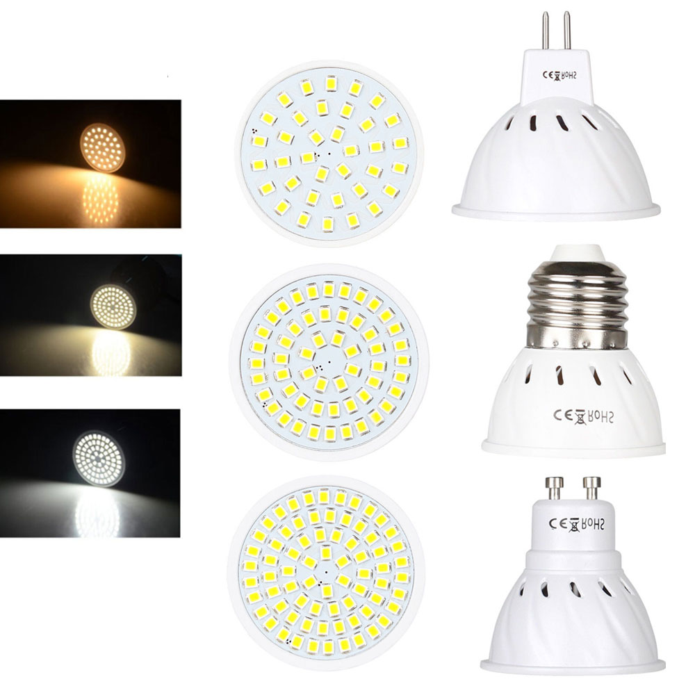 LED Spotlight Led Lamp MR16 E27 GU10 3W 5W 7W 36 54 72LEDs 110V 220V DC 12V 24V Spot LED Bulb Light Lampada Bombillas Warm/Cold